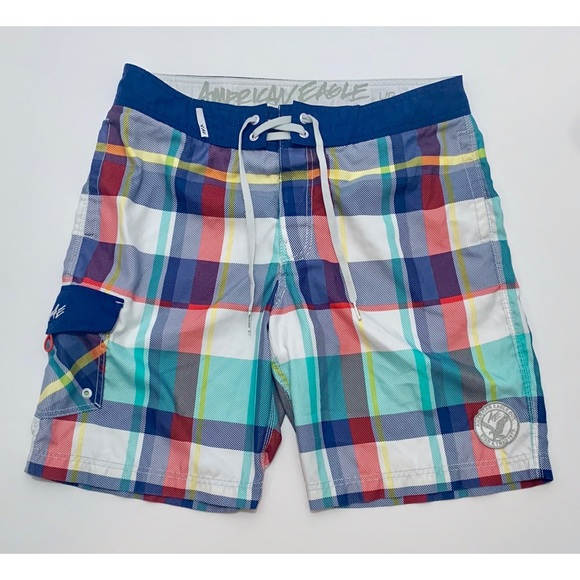 American Eagle Outfitters Other - AEO Plaid Board Shorts Large